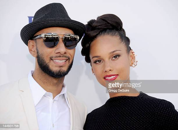 Alicia Keys and Swizz Beatz arrive at the 2012 Billboard Music Awards at MGM Grand on May 20 2012 in Las Vegas Nevada