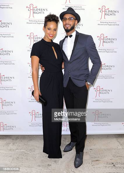 Alicia Keys and Swizz Beatz attend 8th Annual Children's Rights Benefit at Four Seasons Restaurant New York on October 7 2013 in New York City