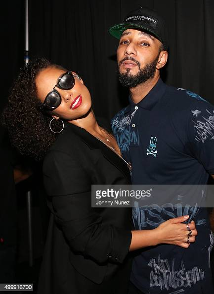 Alicia Keys and Swizz Beatz attend Day 1 of The Dean Collection X BACARDI Untameable House Party on December 3 in Miami Florida