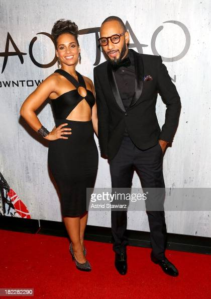 Alicia Keys and Swizz Beatz attend TAO Downtown Grand Opening on September 28 2013 in New York City