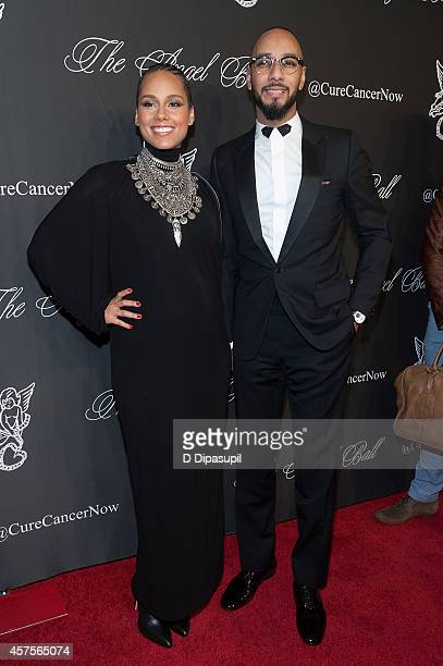 Alicia Keys and Swizz Beatz attend the 2014 Angel Ball at Cipriani Wall Street on October 20 2014 in New York City