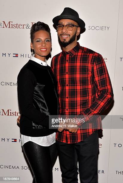 Alicia Keys and Swizz Beatz attend The Cinema Society Tommy Hilfiger screening of 'The Inevitable Defeat of Mister Pete' at Tribeca Grand Screening...