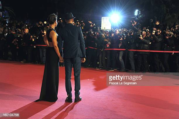 Alicia Keys and Swizz Beatz attend the NRJ Music Awards 2013 at Palais des Festivals on January 26 2013 in Cannes France