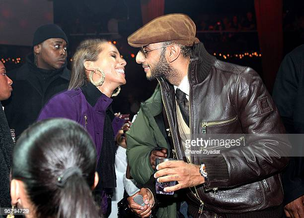 Alicia Keys and Swizz Beatz is seen at M2 Ultra Lounge on December 18 2009 in New York City