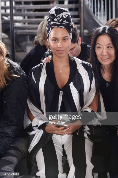 Alicia Keys and Vera Wang attend the Rick Owens show as part of the Paris Fashion Week Womenswear Fall/Winter 2017/2018 on March 2 2017 in Paris...