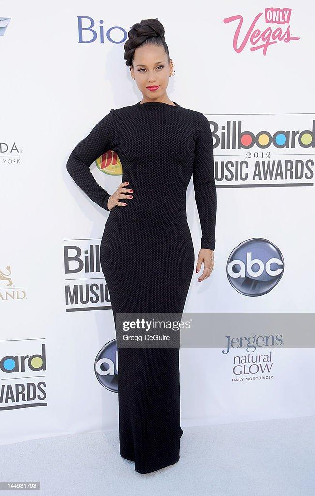 Alicia Keys arrives at the 2012 Billboard Music Awards at MGM Grand on May 20, 2012 in Las Vegas, Nevada.