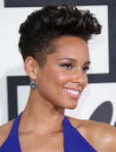 Alicia Keys arrives at the 56th Annual GRAMMY Awards at Staples Center on January 26 2014 in Los Angeles California