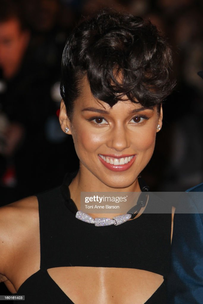 Alicia Keys arrives at the NRJ Music Awards 2013 at Palais des Festivals on January 26, 2013 in Cannes, France.