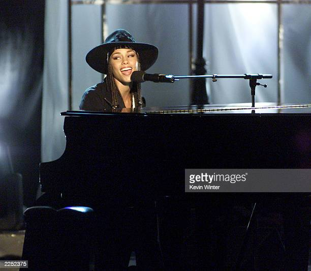 Alicia Keys at 'The 7th Annual Soul Train Lady of Soul Awards' at the Santa Monica Civic Auditorium Santa Monica Ca 8/28/01 Photo by Kevin...