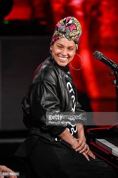 Alicia Keys attends at 'Che Tempo Che Fa' Tv Show on June 12 2016 in Milan Italy