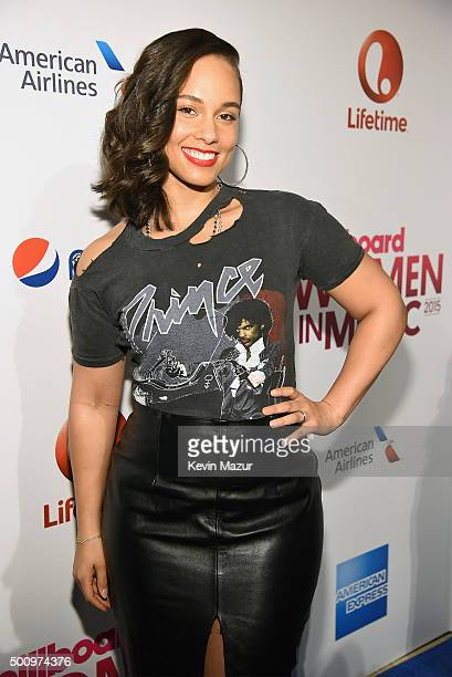 Alicia Keys attends Billboard Women In Music 2015 on Lifetime at Cipriani 42nd Street on December 11 2015 in New York City