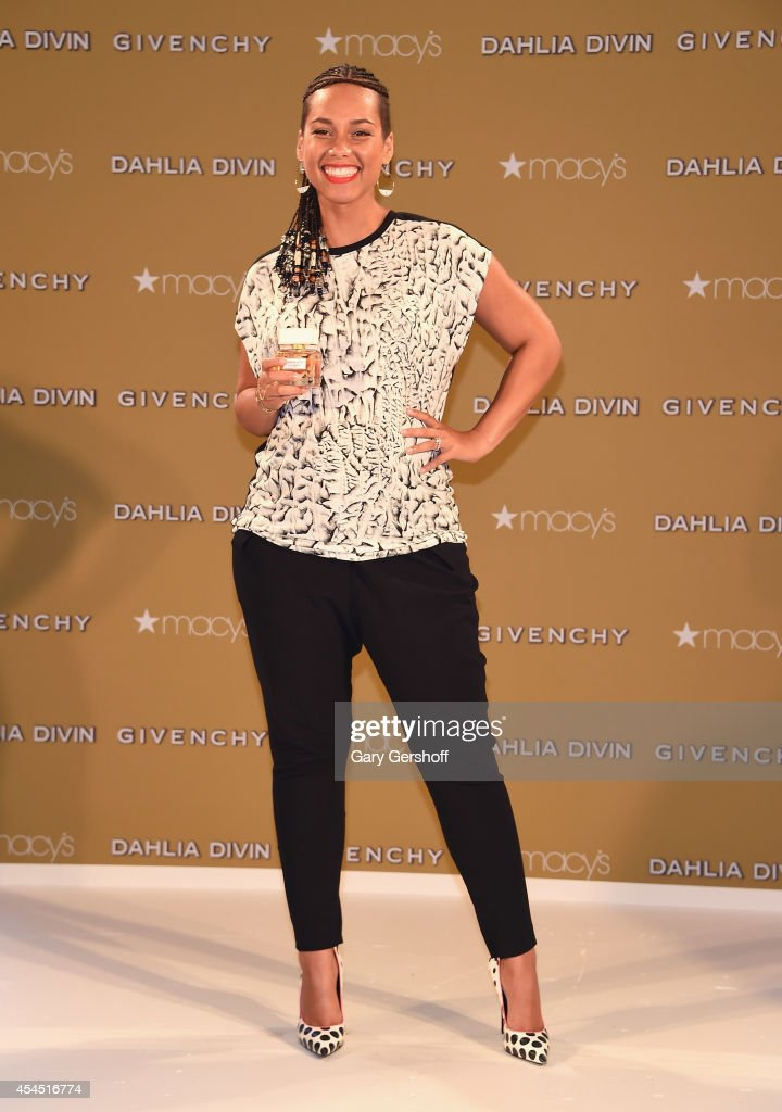 Alicia Keys attends Givenchy's Dahlia Divin Fragrance Launch at Macy's Herald Square on September 2 2014 in New York City