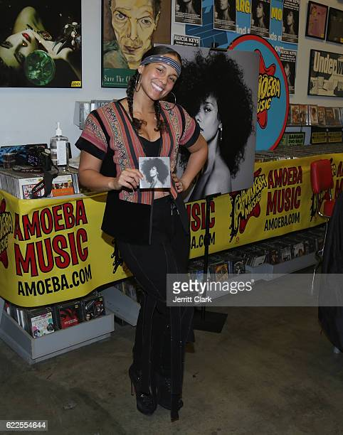 Alicia Keys attends her album signing for 'Here' at Amoeba Music on November 11 2016 in Hollywood California