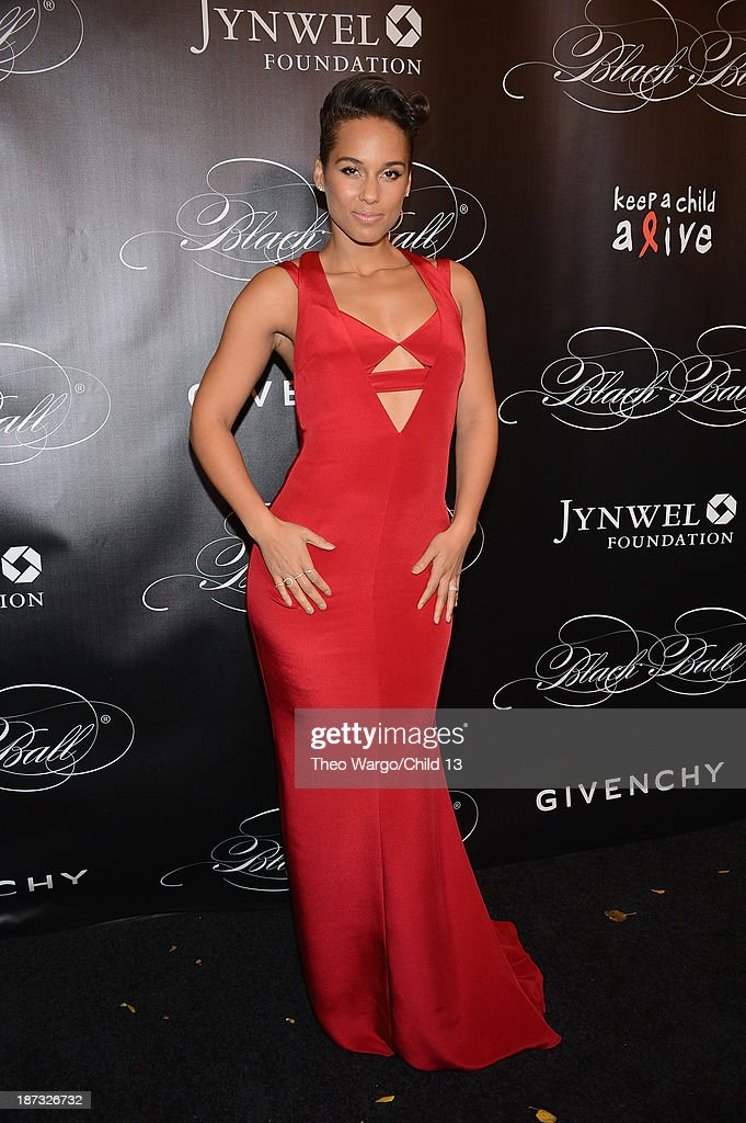 Alicia Keys attends Keep A Child Alive's 10th Annual Black Ball at Hammerstein Ballroom on November 7, 2013 in New York City.