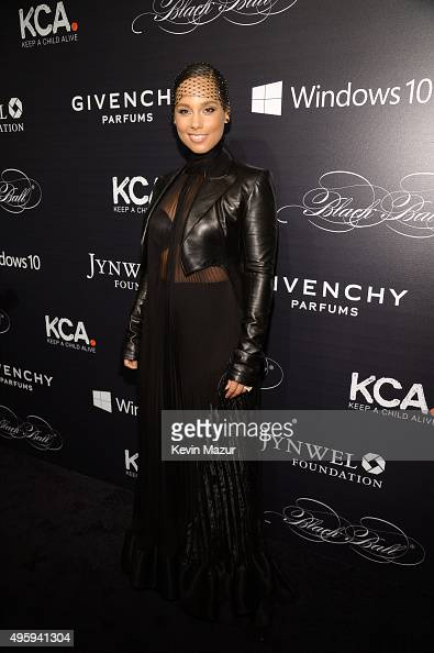 Alicia Keys attends Keep A Child Alive's 12th Annual Black Ball at Hammerstein Ballroom on November 5 2015 in New York City
