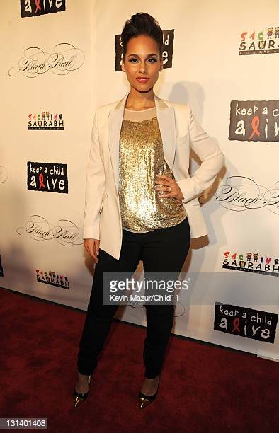 Alicia Keys attends Keep A Child Alive's 8th annual Black Ball at Hammerstein Ballroom on November 3 2011 in New York City