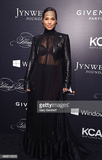 Alicia Keys attends the 2015 'Keep A Child Alive' Black Ball at Hammerstein Ballroom on November 5 2015 in New York City