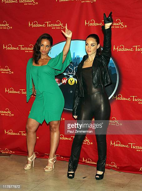 Alicia Keys attends the Alicia Keys Wax Figure Unveiling at Madame Tussauds on June 28 2011 in New York City