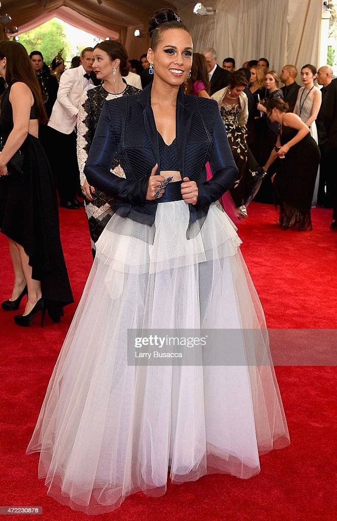 Alicia Keys attends the 'China Through The Looking Glass' Costume Institute Benefit Gala at the Metropolitan Museum of Art on May 4 2015 in New York...