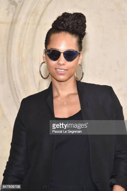 Alicia Keys attends the Christian Dior show as part of the Paris Fashion Week Womenswear Fall/Winter 2017/2018 at Musee Rodin on March 3 2017 in...