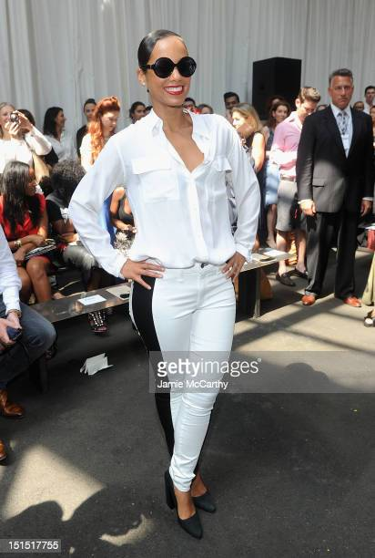 Alicia Keys attends the Edun show during Spring 2013 MercedesBenz Fashion Week at Skylight at Moynihan Station on September 8 2012 in New York City