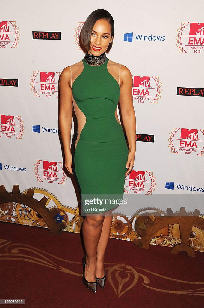 <a gi-track='captionPersonalityLinkClicked' href=/galleries/search?phrase=Alicia+Keys&family=editorial&specificpeople=169877 ng-click='$event.stopPropagation()'>Alicia Keys</a> attends the MTV EMA's 2012 at Festhalle Frankfurt on November 11, 2012 in Frankfurt am Main, Germany.
