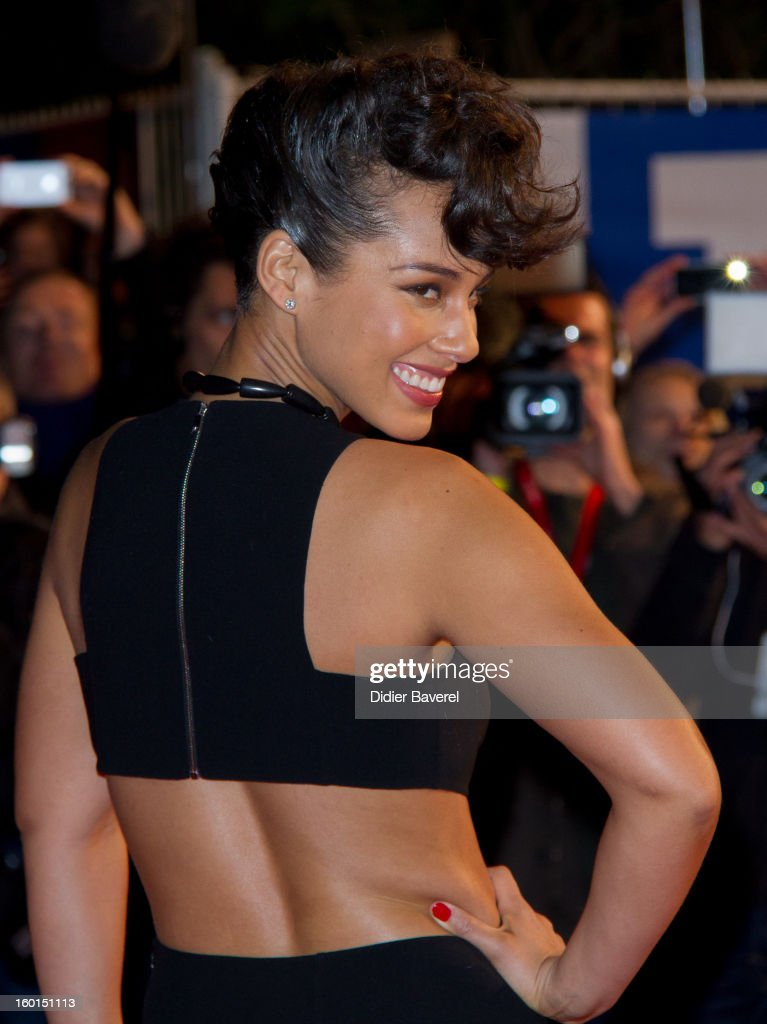 Alicia Keys attends the NRJ Music Awards 2013 at Palais des Festivals on January 26, 2013 in Cannes, France.