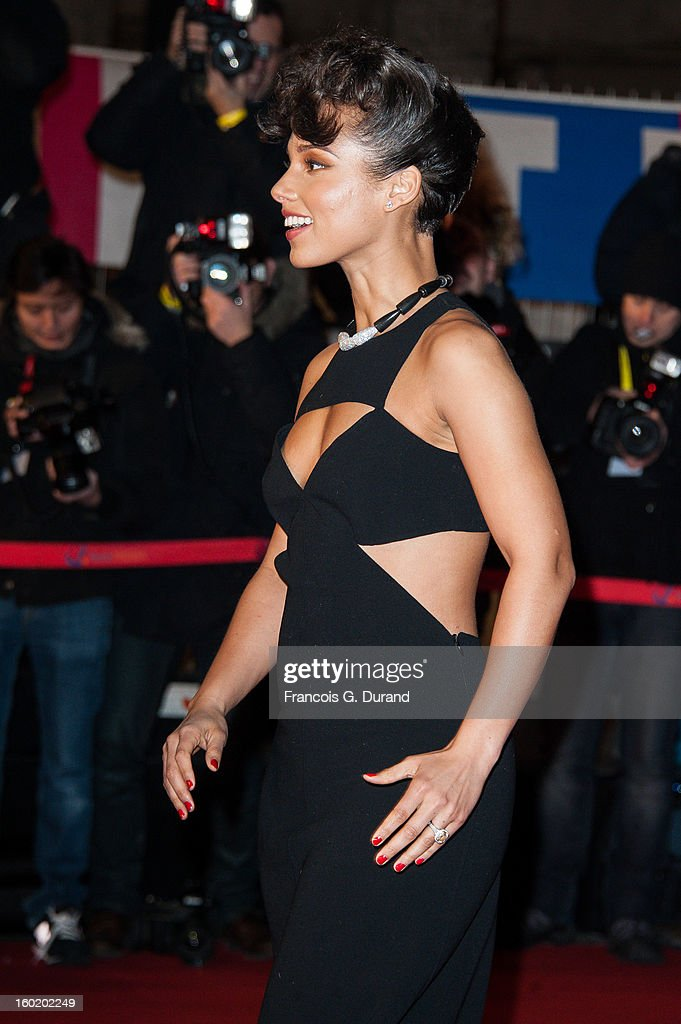 <a gi-track='captionPersonalityLinkClicked' href=/galleries/search?phrase=Alicia+Keys&family=editorial&specificpeople=169877 ng-click='$event.stopPropagation()'>Alicia Keys</a> attends the NRJ Music Awards 2013 at Palais des Festivals on January 26, 2013 in Cannes, France.