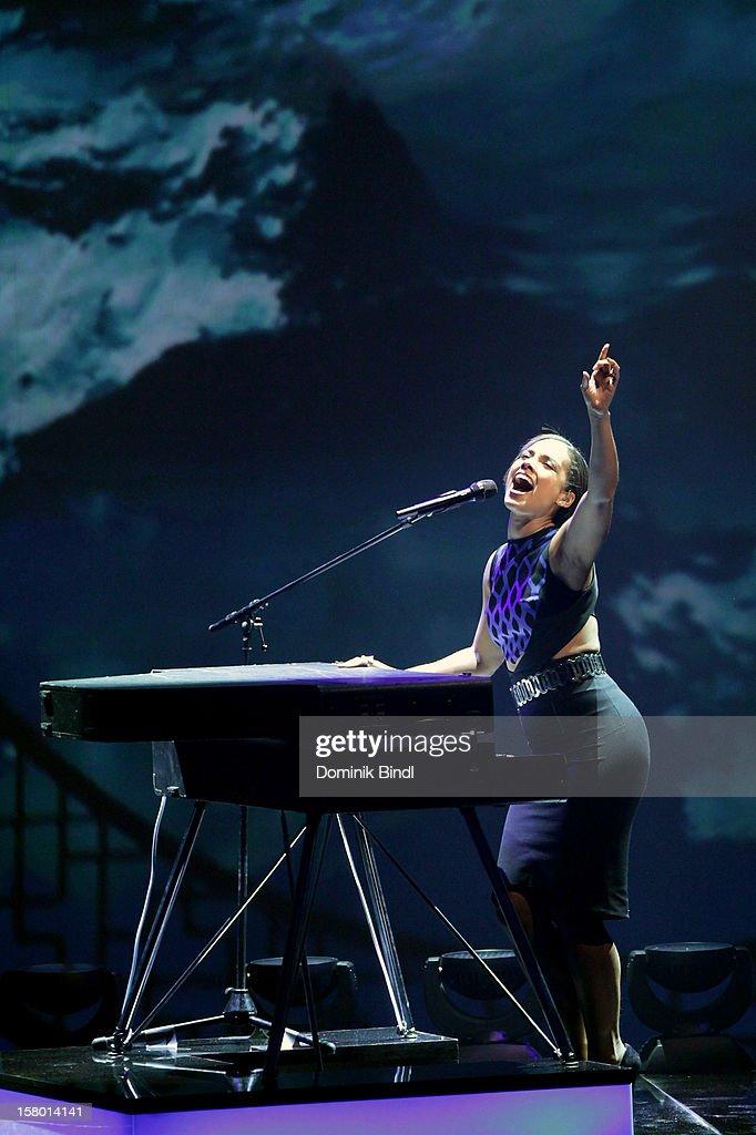Alicia Keys attends 'Wetten dass..?' From Freiburg on December 8, 2012 in Freiburg im Breisgau, Germany.