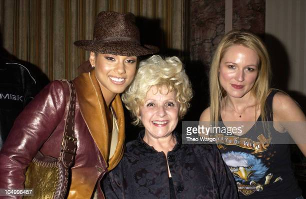 Alicia Keys Brenda Lee and Jewel during The 17th Annual Rock and Roll Hall of Fame Induction Ceremony Audience Backstage Cocktail Party at Waldorf...
