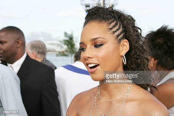 Alicia Keys during 2005 MTV Video Music Awards Arrivals at American Airlines Arena in Miami Florida United States