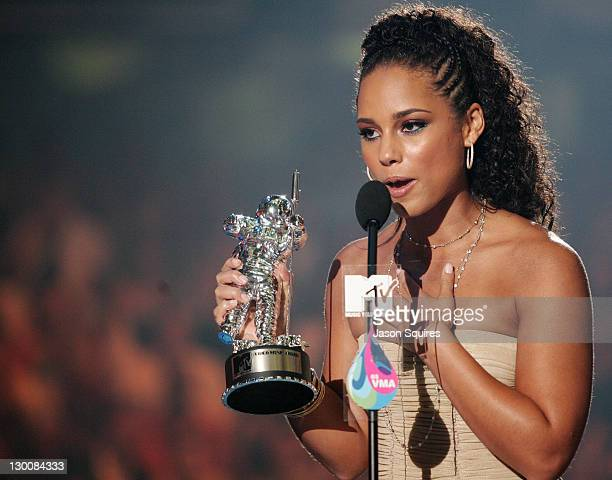 Alicia Keys during 2005 MTV Video Music Awards Show at American Airlines Arena in Miami Florida United States