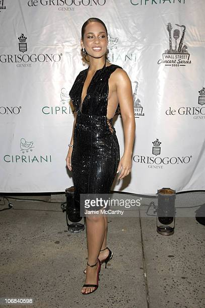 Alicia Keys during Cipriani Wall Street Concert Series Featuring Alicia Keys Arrivals and Backstage at Cipriani in New York City New York United...
