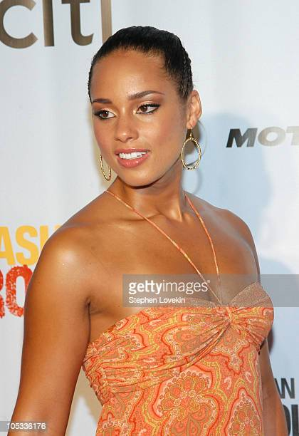 Alicia Keys during Fashion Rocks 2004 'An Unprecedented Night of Style and Sound' Arrivals at Radio City Music Hall in New York City New York United...