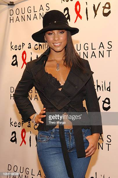 Alicia Keys during 'Keep A Child Alive' Black Ball Kickoff at Cain in New York City New York United States