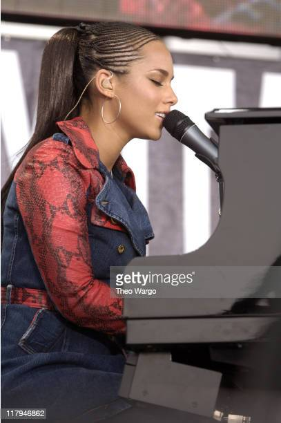 Alicia Keys during LIVE 8 Philadelphia Show at Philadelphia Museum of Art in Philadelphia Pennsylvania United States
