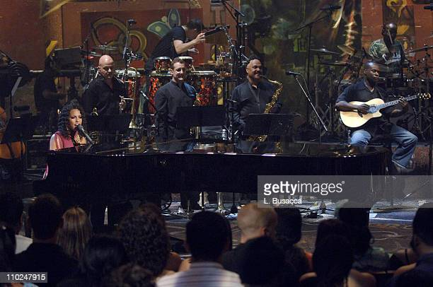 Alicia Keys during MTV Unplugged Taping Featuring Alicia Keys July 14 2005 at Brooklyn Academy of Music in Brooklyn New York United States