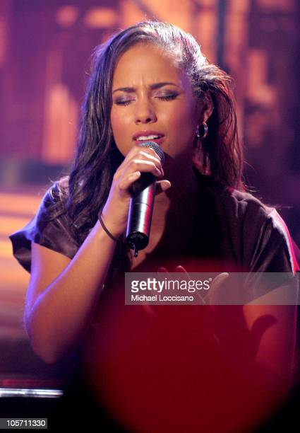 Alicia Keys during 'ReAct Now Music Relief' Hurricane Relief Benefit Concert New York at MTV Studios Times Square in New York City New York United...
