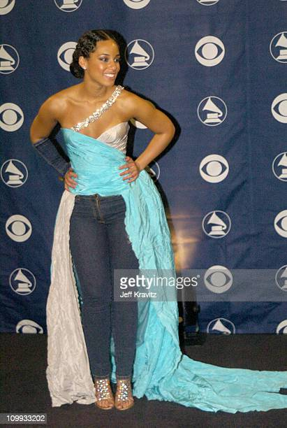 Alicia Keys during The 46th Annual Grammy Awards Press Room at Staples Center in Los Angeles California United States