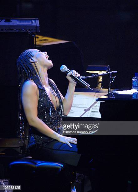 Alicia Keys during The Black Ball Hosted by Alicia Keys and Benefiting the Keep a Child Alive Foundation Show at Jazz at Lincoln Center in New York...