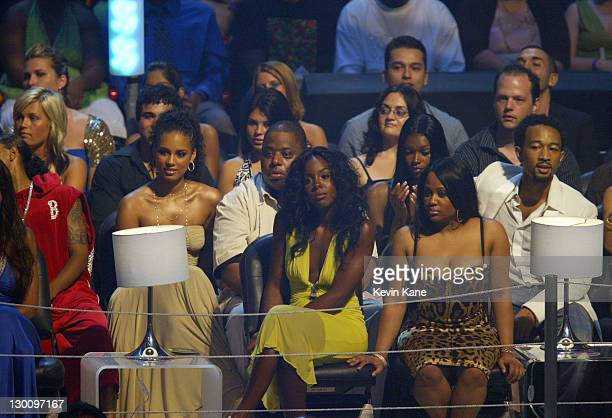 Alicia Keys Kelly Rowland and John Legend during 2005 MTV Video Music Awards Show at American Airlines Arena in Miami Florida United States