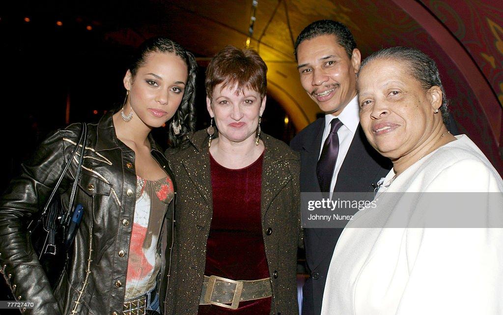 Alicia Keys mother Terri Augello godfather Tony Fitts and grandmother Vergil DiSalvatore