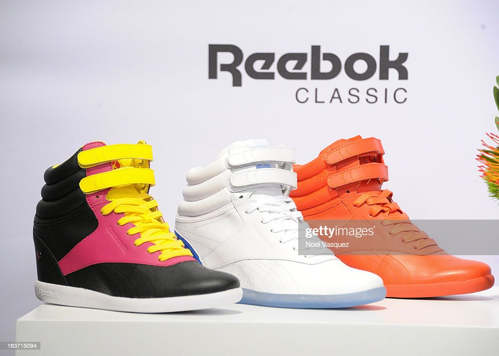 Alicia Keys' new 'AKW' shoe from Reebok is displayed at 'Extra' at The Grove on March 14, 2013 in Los Angeles, California.