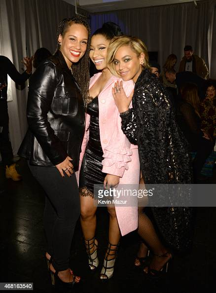 Alicia Keys Nicki Minaj and Beyonce attend the Tidal launch event #TIDALforALL at Skylight at Moynihan Station on March 30 2015 in New York City