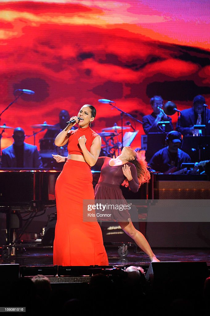 Alicia Keys onstage at BET Honors 2013 at Warner Theatre on January 12, 2013 in Washington, DC.