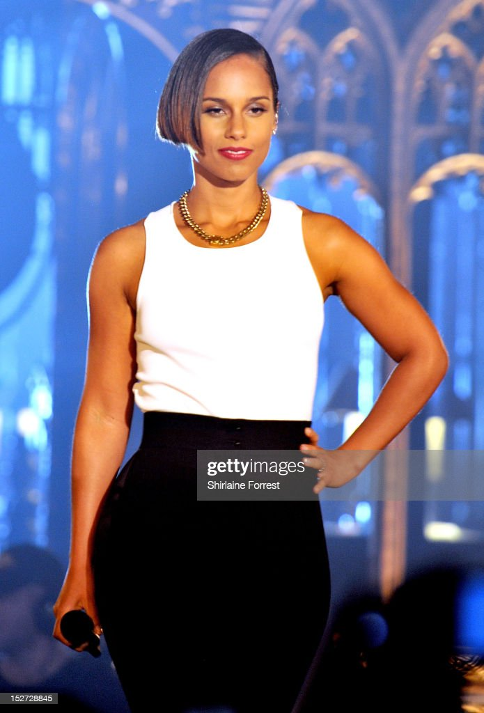 <a gi-track='captionPersonalityLinkClicked' href=/galleries/search?phrase=Alicia+Keys&family=editorial&specificpeople=169877 ng-click='$event.stopPropagation()'>Alicia Keys</a> performs as part of MTV Crashes... at Manchester Cathedral on September 24, 2012 in Manchester, England.
