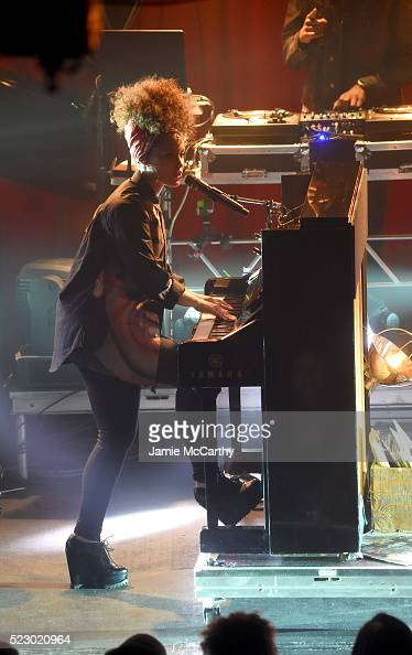 Alicia Keys performs at the 2016 Tribeca Film Festival at Highline Ballroom on April 21 2016 in New York City