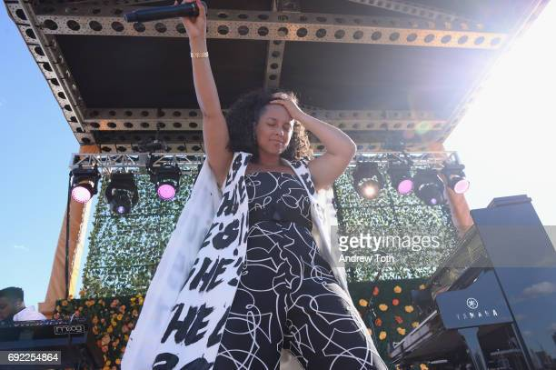 Alicia Keys performs at The Tenth Annual Veuve Clicquot Polo Classic at Liberty State Park on June 3 2017 in Jersey City New Jersey