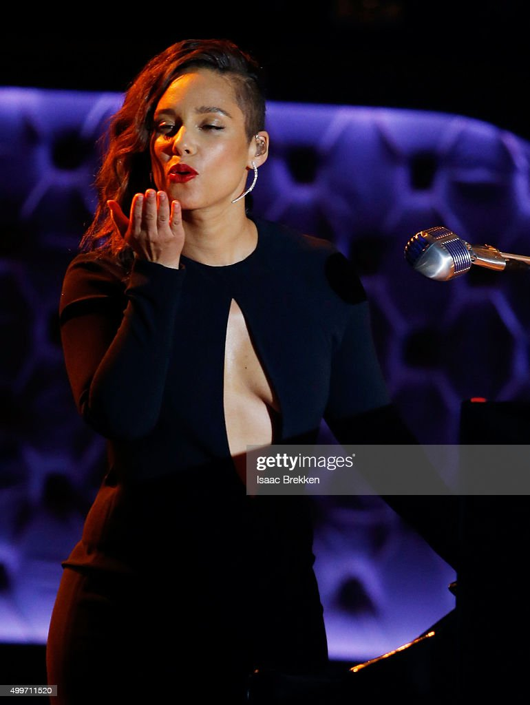 Alicia Keys performs during 'Sinatra 100: An All-Star GRAMMY Concert' celebrating the late Frank Sinatra's 100th birthday at the Encore Theater at Wynn Las Vegas on December 2, 2015 in Las Vegas, Nevada. The show will air on CBS on December 6.