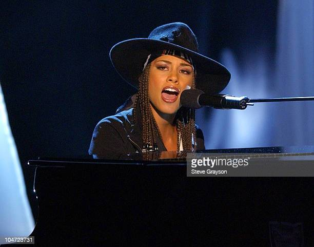 Alicia Keys performs during The 7th Annual Soul Train Lady Of Soul Awards Show at Santa Monica Civic Auditorium in Santa Monica California United...